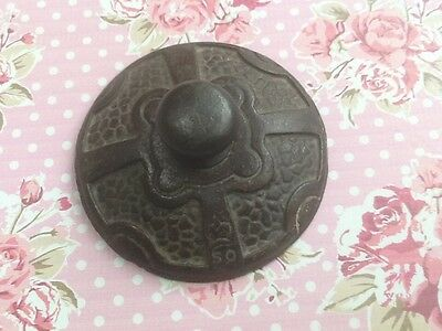 Antique Victorian Cast Iron Paperweight - marked with Crown & 50