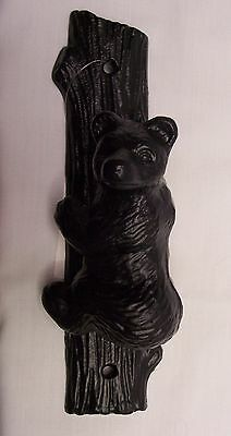Black Bear Cast Iron Door Knocker Rustic Cabin Home Decor (NCL)