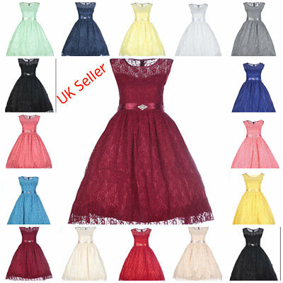 GIRLS Flower Formal Wedding Birthday Events Bridesmaid Party Flower Dress
