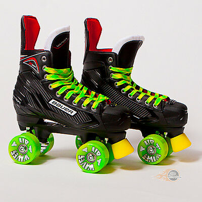 Bauer Quad Roller Skates - Vapor X300 S17 - 2017 Model - Lime Airwaves