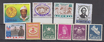 Liberia Mint Never Hinged Selection
