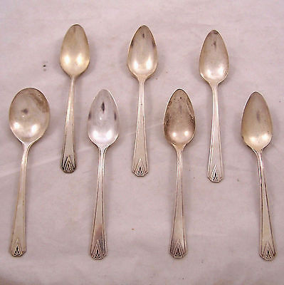 Oneida Community Silverplate Deauville 7 Spoons Teaspoons and Soup Spoon