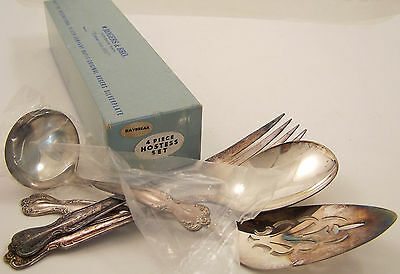 Rogers Bros Daybreak Elegant Lady Silverplate Hostess Set 4 Pc Serving Gift Set
