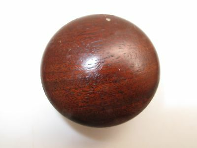 "Antique  Wooden Drawer Pull Knob 2""d 1800's Mahogany Cherry Button Empire 1800's"