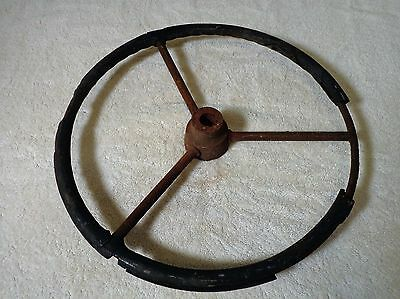 antique steering wheel for car auto truck tractor?.. fun vintage wall art, decor
