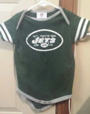 New York Jets Baby One Piece Green & White, Football, Nfl Team Apparel 24 Months