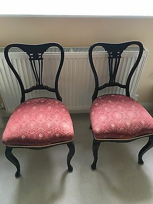 Pair of Antique Victorian Parlour Chairs - Dining