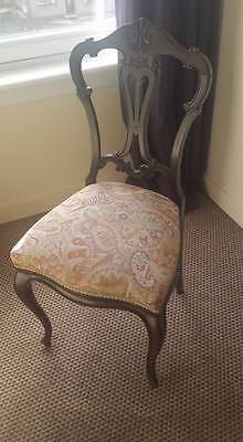 Antique Edwardian Occasional Parlour Bedroom Hall Chair