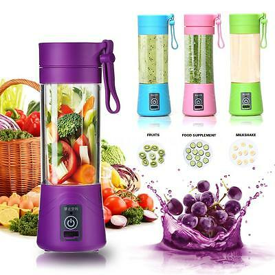 Portable 380ml Electric Juice Blender Bottle Safety Juicer Cup Non-toxic J1F2
