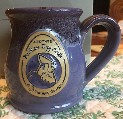 Another Broken Egg Mug by Deneen Pottery - Purplish Blue - Vinings, GA - New