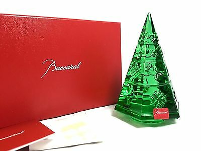Baccarat Courchevel Fir Diamond Christmas Tree - Green Crystal New in Box $420