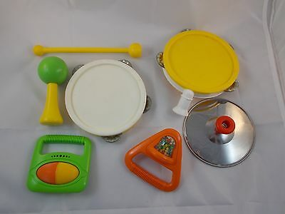 Fisher Price Marching Band Music #2210 Tambourine Maracas Drumstick Others Lot