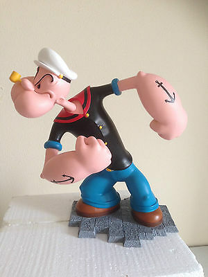 Extremely Rare! Popeye Angry Big Polyresin Figurine Statue Marked in Box