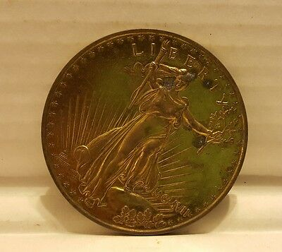"1907 Large 3"" Liberty Saint Gaudens Twenty Dollar Souvenir Coin Eagle"