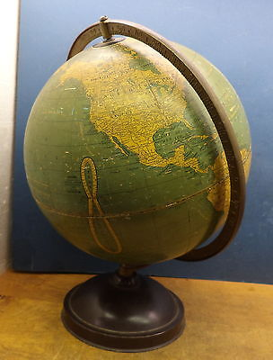 "12"" Antique GLOBE made by CRAMS UNIVERSAL TERRESTRIAL GLOBE  post WW ONE"