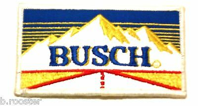 Busch Beer Patch Embroidered Ale 4-3/8 inch Made in USA Mountain