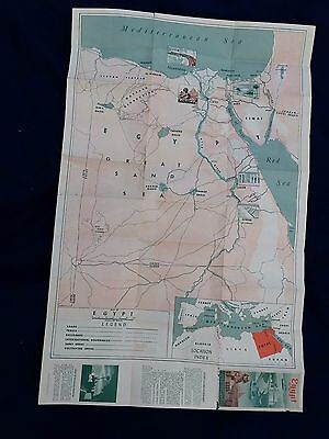 1950's Large Map of Egypt
