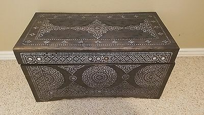 Inlaid mother-of-pearl chest from the Philippines early 1900s Kamagong