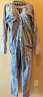 Vitg 1980s Good Things of California Stonewashed Blue Denim Jumpsuit Size S M P2