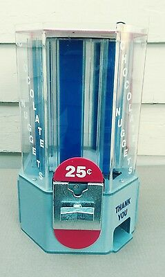 Vintage Chocolate Nuggets Coin Operated 25¢ Vending Machine • Working