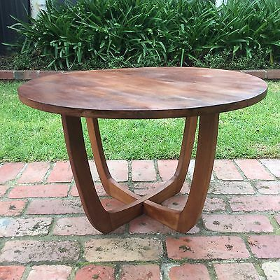 Retro Timber Coffee Table Side Table Round Top Versatile Aud Picclick Au