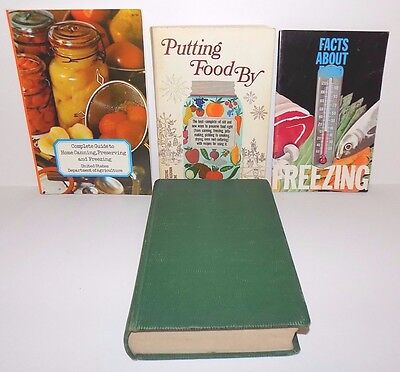 Lot of 4 Books Relating to Freezing, Preserving and Canning Foods
