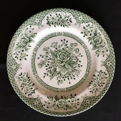 "Wood & Sons Fine  Dinnerware ""GREEN ROSE"" Made in England 7"" Dessert Plates (3)"