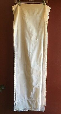 Light Beige Embroidered Cotton Sari With Pants Women's Size M