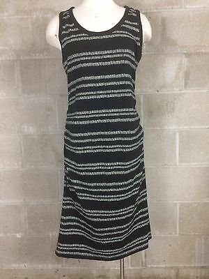 Liz Lange Maternity for Target Geometric Striped Sleeveless Dress Stretch Large