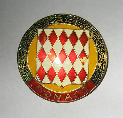 Vintage Automobile Grill Badge/Emblem From Monaco Home of the Grand Prix Race