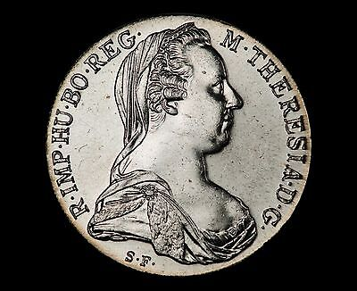 (1780)-SF Maria Theresa Thaler Silver Restrike - UNCIRCULATED EXAMPLE!!