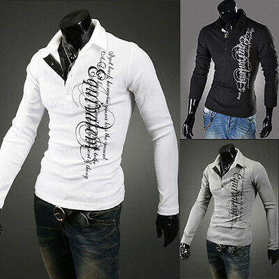 3 Color Men's Casual Slim Fit Luxury Fashion Long Sleeve Shirt New (M-3XL)