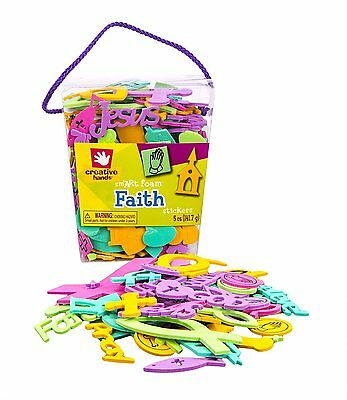 Creative Hands by Fibre-Craft Colorful Foam Stickers, 5-Ounce, Faith