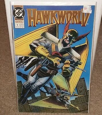 hawkworld #1 1990 8.0 ish condition