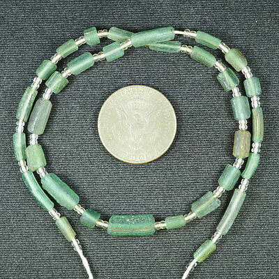 Ancient Roman Glass Beads 1 Medium Strand Brow 100 -200 Bc 683