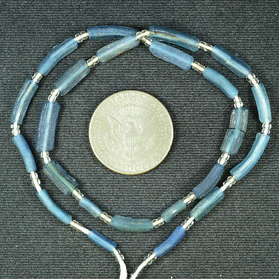 Ancient Roman Glass Beads 1 Medium Strand Brow 100 -200 Bc 684