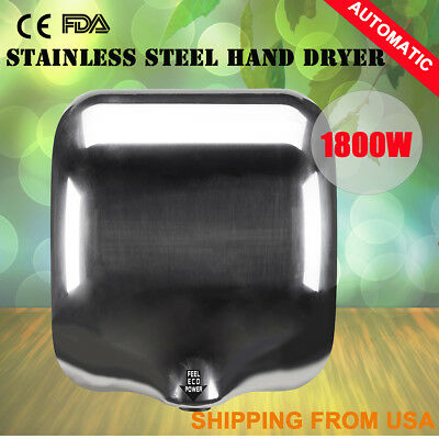 Heavy Duty 1800W Premium Stainless Steel Auto Hand Dryer for Business& Homes
