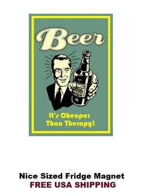 113 - Funny Beer Alcohol Drinking Fridge Refrigerator Magnet