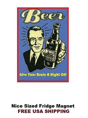 114 - Funny Beer Alcohol Drinking Fridge Refrigerator Magnet
