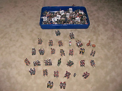 Large Lot Tin/Lead Soldiers Painted Napoleanic Era Waterloo?
