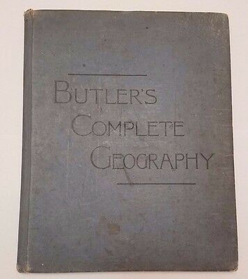 Butler's Complete Geography 1887 World Map Atlas Philadelphia Vintage Antique