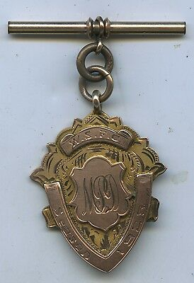1929 9Ct Gold Football Fob Awarded  M P Drury Played For West Torrens 11.8 G K97
