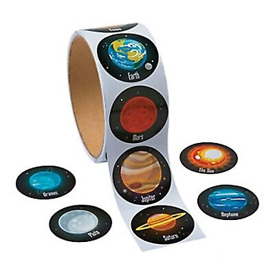 OUTER SPACE PARTY Solar System and Planets Stickers Pack of 50 Free Postage