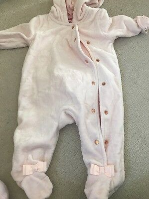 Baby Girls Ted Baker Velour Pram Suit 0-3
