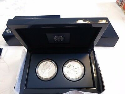 2012 American Eagle Silver Proof 2 Coin Set--B424