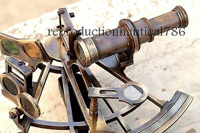Nautical Sextant Marine Navy Working Vintage Ship Astrolabe Brass Sextant Decor