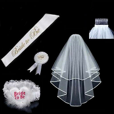 Tem Bride To Be Hen Party Badges Accessories Veil Hen Night Sash