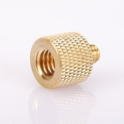 3pc 3/8'' Female to 1/4'' Male Brass Tripod Thread Reducer Adapter For Camera