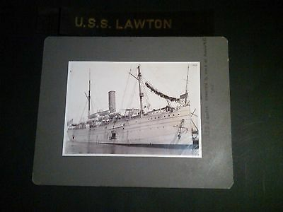 USS Lawton, Navy Cargo Ship with Hat Band Tally, c 1905
