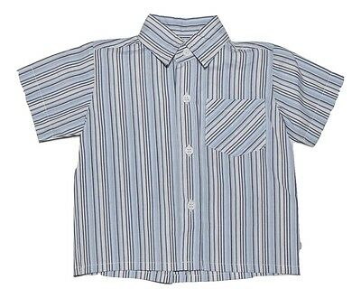 Halo Baby Boys Short Sleeve Shirt - Blue Stripes Size 0
